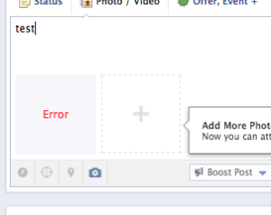 Facebook post errors