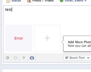 Facebook post errors