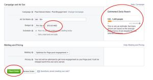 FB Ads manager cost and reach Oct 2014