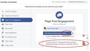 FB select a post to promote Oct 2014